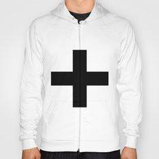 Black Plus On White /// … Hoody