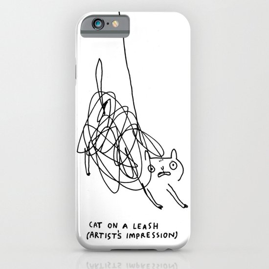 Cat on a Leash iPhone & iPod Case