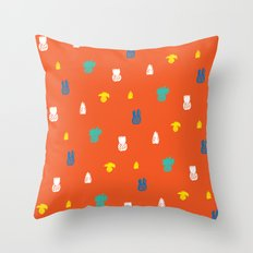 Bright and small pineapples Throw Pillow