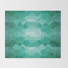 Emerald gem stone Throw Blanket