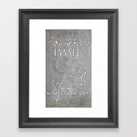 Chalkboard Hand-lettered… Framed Art Print