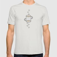 Latte Mens Fitted Tee Silver SMALL