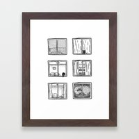 Every Window Is A Story Framed Art Print