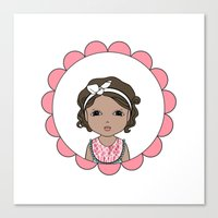 Brunette Bob Canvas Print