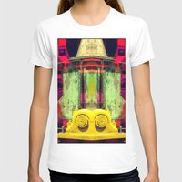 Industrial Abstract Twins Womens Fitted Tee White SMALL