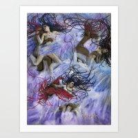 Sapphic Tide  Art Print