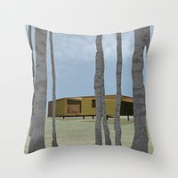 wood pavilion Throw Pillow