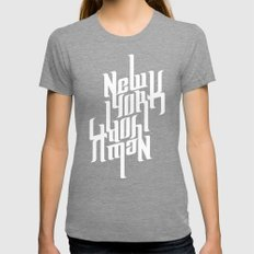 NEW YORK Womens Fitted Tee Tri-Grey SMALL