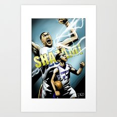 The Brow of SHAZAM! Art Print