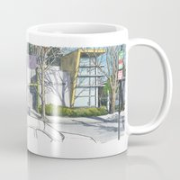 D Street Davis panorama Mug