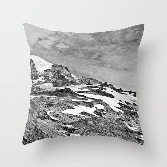 Rugged Mountain Hike Throw Pillow