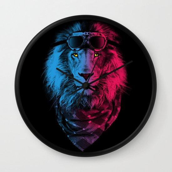 lion rider Wall Clock