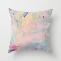 Abstract paint in pink Throw Pillow