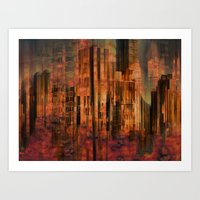Utopia city Art Print