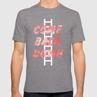 Come Back Down. Mens Fitted Tee Tri-Grey SMALL
