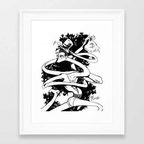 Plasticman! Framed Art Print