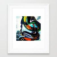 Rainbow Moto Framed Art Print