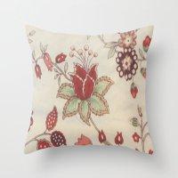 Vitage Rose Throw Pillow