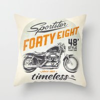 Forty Eight Throw Pillow