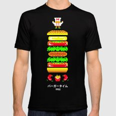 BurgerTime SMALL Mens Fitted Tee Black