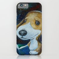 iPhone & iPod Case featuring Dog Reading by LuisaPizza