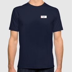 Sad Battery Mens Fitted Tee Navy SMALL