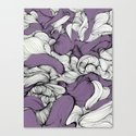 Lavender Fabric Canvas Print