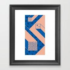 palm geometry Framed Art Print