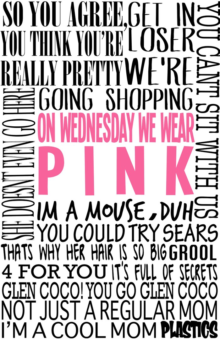 mean girls quotes art print by turquoisedhearts society6