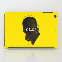 Doh – Homer Simpson Silhouette Quote iPad Case
