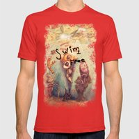 Below The Surface Mens Fitted Tee Red SMALL