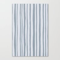Into the Woods grey Stripes Canvas Print