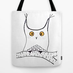 Squarish Owl Tote Bag
