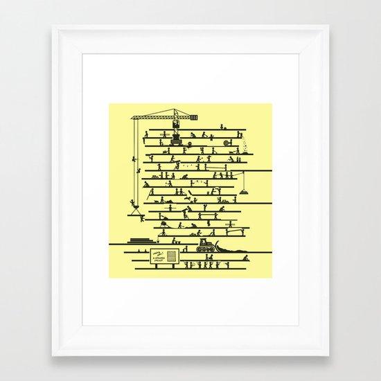 Under Construction Framed Art Print