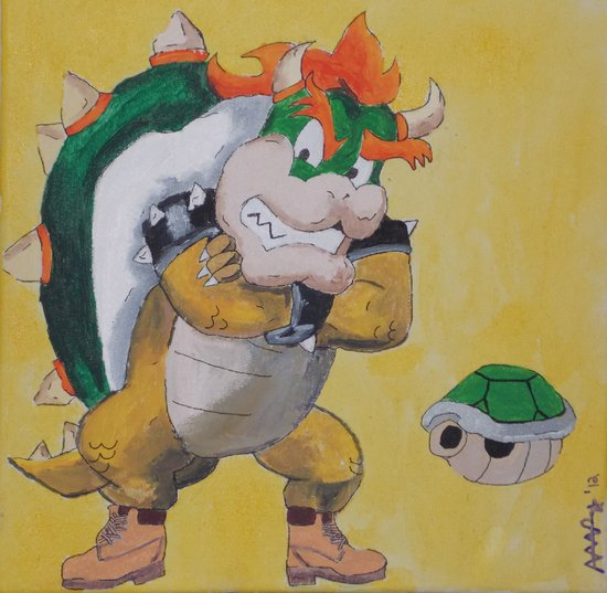 "King ""Timbs"" Koopa Canvas Print"