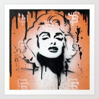 SF Giants X Marilyn Monr… Art Print