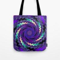 Purple Hurricane Fractal Tote Bag