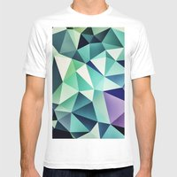 :: digital pattern :: Mens Fitted Tee White SMALL