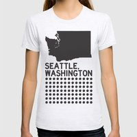 SEATTLE WASHINGTON Womens Fitted Tee Ash Grey SMALL