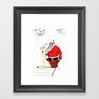 Shitty Christmas Framed Art Print