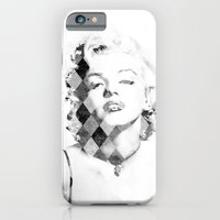 Marilyn Monroe Black and White Checkered iPhone 6 Slim Case