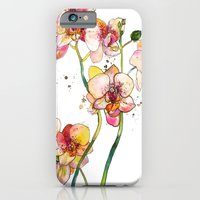 iPhone & iPod Case featuring Pink Orchids by Marcella Wylie