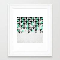 IceFall Framed Art Print