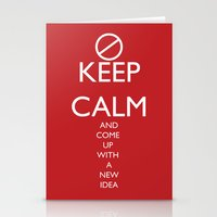 Maybe, Don't Keep Calm Stationery Cards