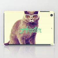 Turquoise Funny Cat Cute… iPad Case