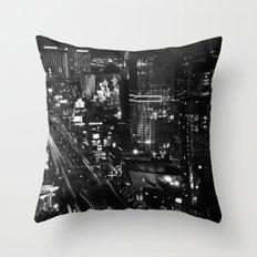 Dark Depths of Las Vegas Throw Pillow