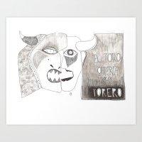 El Toro Que Quería Ser … Art Print
