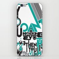 If You Can't Be Bothered… iPhone & iPod Skin