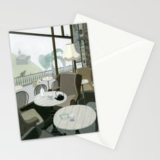 Cafe With A View Of The Castle Stationery Cards