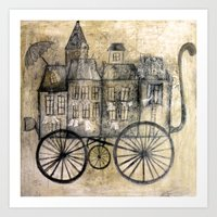 Little Town Transport Art Print